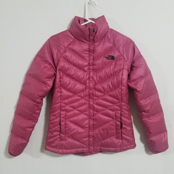 North Face Womens Small Pink Quilted Jacket Coat